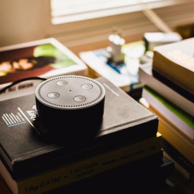 Amazon Echo device with digital assistant Alexa